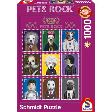 Puzzel Pets Rock Arts 1000 stukjes