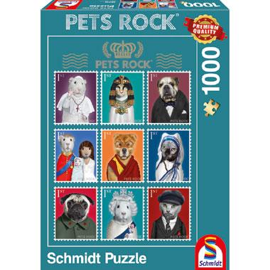 Pets Rock History puzzel - 1000 stukjes
