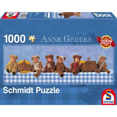 Teddy Bears Picknick panorama puzzel - 1000 stukjes
