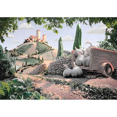 Landscape in Tuscany puzzel - 1000 stukjes