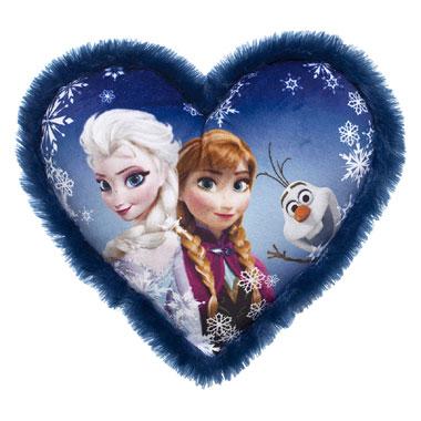 Disney Frozen hartvormig kussen - blauw