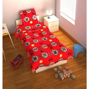 Disney Cars team dekbedovertrek - 120x150 cm - rood