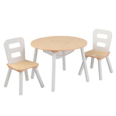 Ronde tafel met 2 stoelen