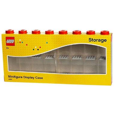 LEGO opbergbox voor 16 minifiguren - rood