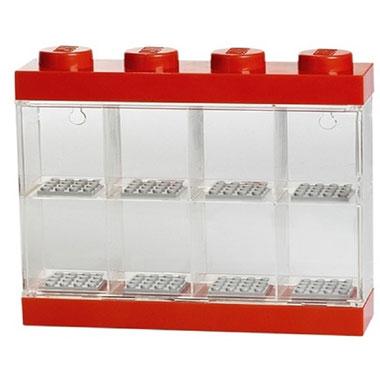 LEGO opbergbox voor 8 minifiguren - rood