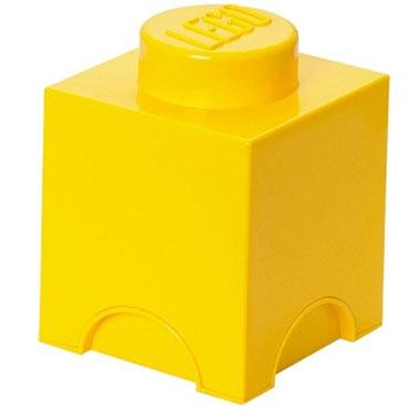 LEGO opbergbox brick 1 - geel
