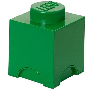 LEGO opbergbox brick 1 - donkergroen