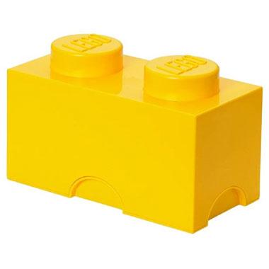 LEGO opbergbox brick 2 - geel