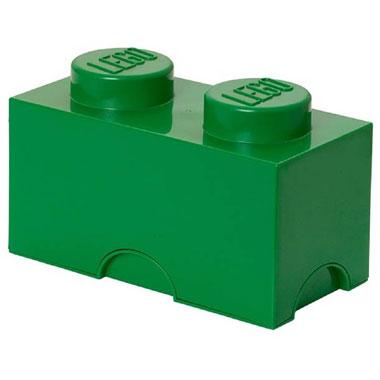 LEGO opbergbox brick 2 - donkergroen