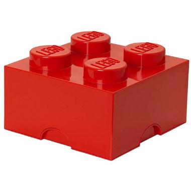 LEGO opbergbox brick 4 - rood