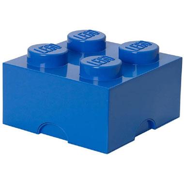 LEGO opbergbox brick 4 - blauw