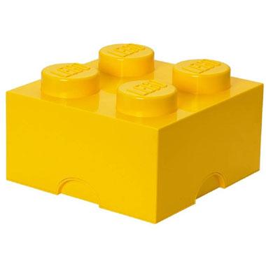 LEGO opbergbox brick 4 - geel