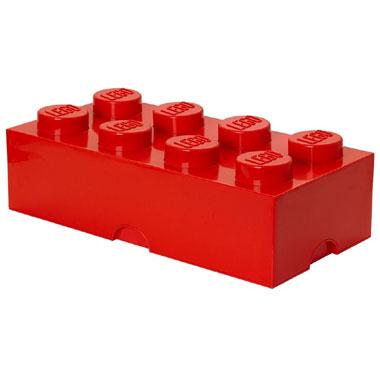 LEGO opbergbox brick 8 - rood