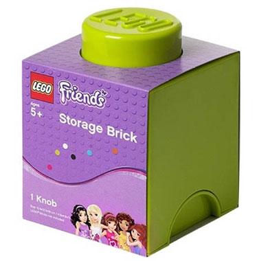 LEGO Friends opbergbox brick 1 - limoengroen