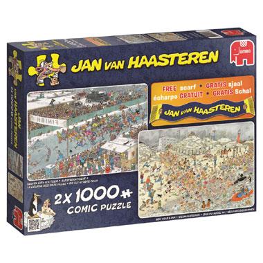 JvH comic puzzels - 2x1000 stuks