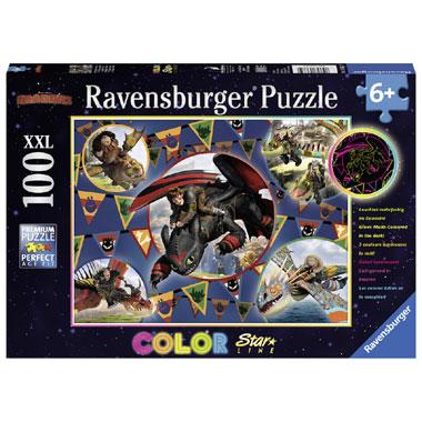 Ravensburger Dragons: de Vikingen van Berk Starline puzzel - 100 stukjes