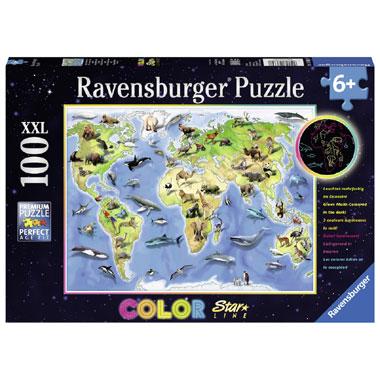 Ravensburger Vrolijke dierenwereld Starline puzzel - 100 stukjes