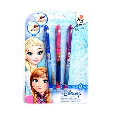 Disney Frozen uitwisbare gelpennen - 3 stuks