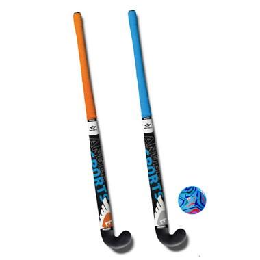 Angel Sports hockeyset - 34 inch - oranje/blauw