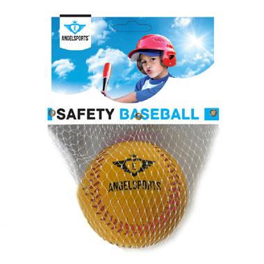 Angel Sports honkbal bal in netje - geel - 9 inch