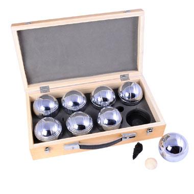 Angel Sports jeu de boules ballen in luxe houten koffer - 6 stuks