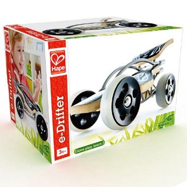 e-Drifter bamboe raceauto - grijs