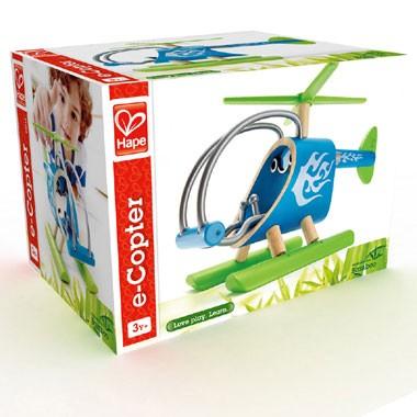 e-Copter bamboe helikopter - blauw
