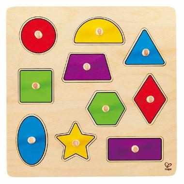 Houten puzzel geometrische vormen