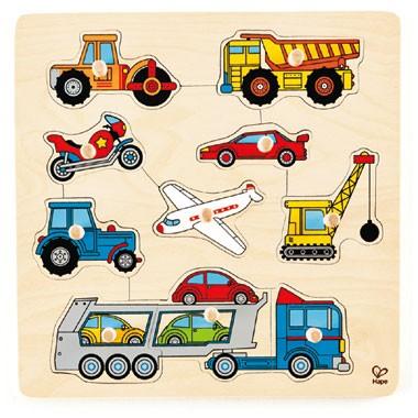 Houten puzzel voertuigen