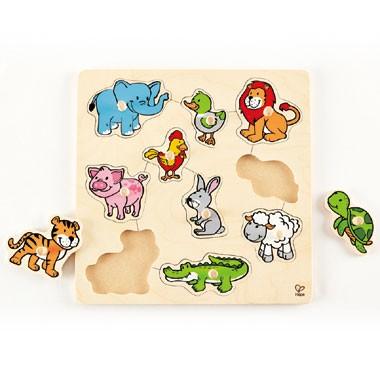 Houten puzzel vrolijke dieren