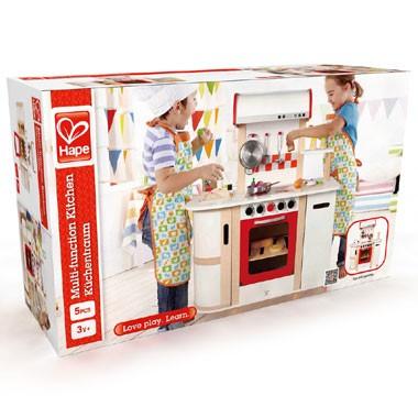 Houten speelgoedkeuken met wasbak