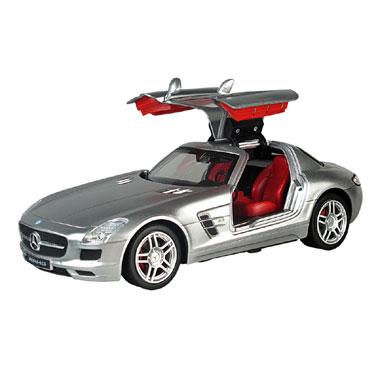 Op afstand bestuurbare auto Racetin Mercedes-Benz SLS AMG 1:16 - grijs
