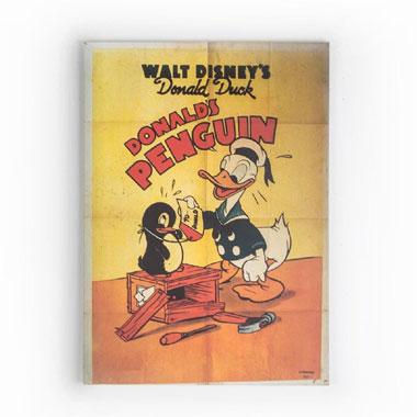 Disney Donald Duck Donald's Penguin vintage canvas