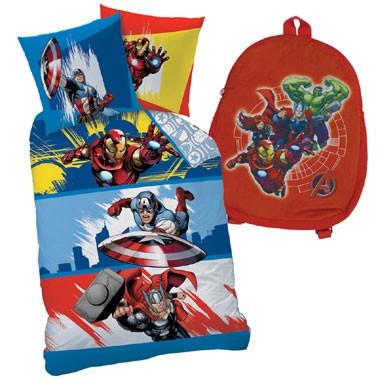 Avengers Actionfight dekbedovertrek met rugzak - 140x200 cm