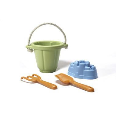 Green Toys strand/zandbak speelset - groen