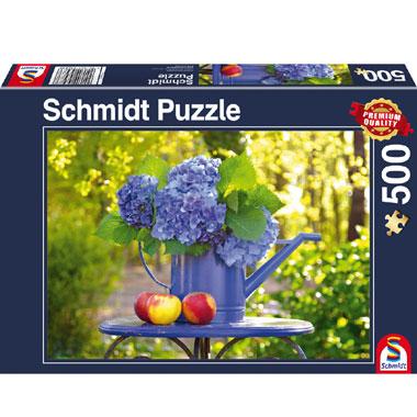 Gieter met hortensia puzzel -1000 stukjes