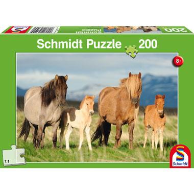 Paardenfamilie puzzel - 200 stukjes