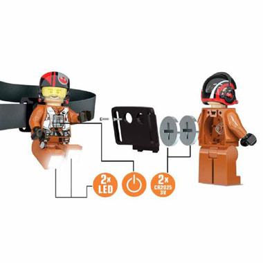 LEGO Poe Dameron hoofdlampje