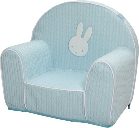 Nijntje stoel gebreid blauw