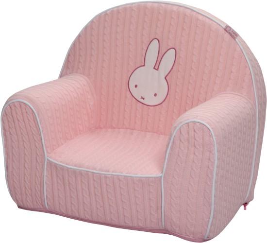 Nijntje stoel gebreid roze