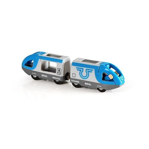 Brio - blauwe personentrein