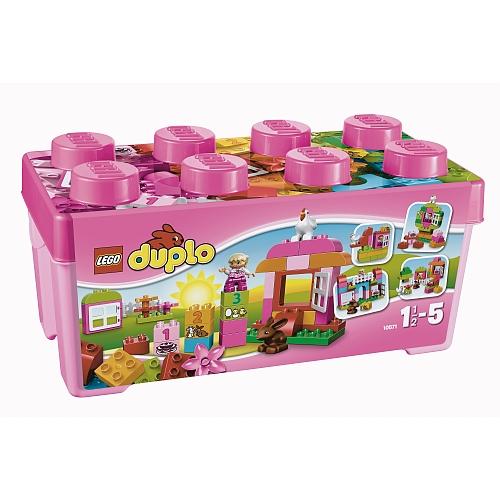 Lego duplo alles-in-eén roze doos vol speelplezier - 10571 grote stenen box