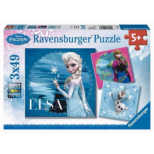 Ravensburger - puzzel   3 x 49 stukjes