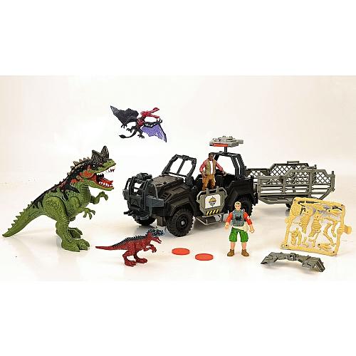 Animal zone - speelset voertuig met dino