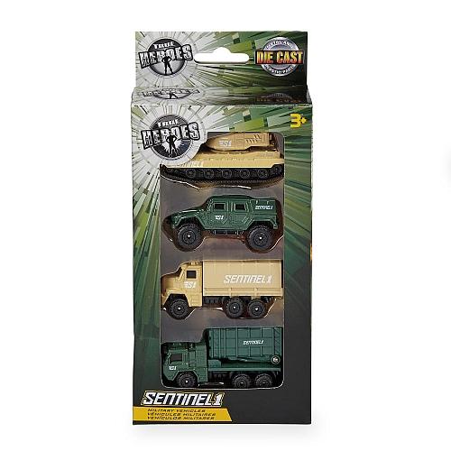 True heroes - militair voertuigen set van 4