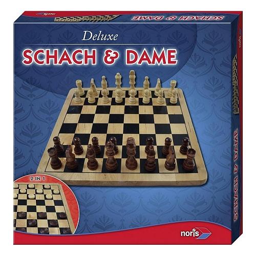 Noris spellen - deluxe houtenset schaken & dammen