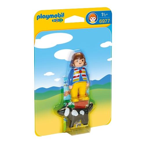 Playmobil - vrouw met hond - 6977