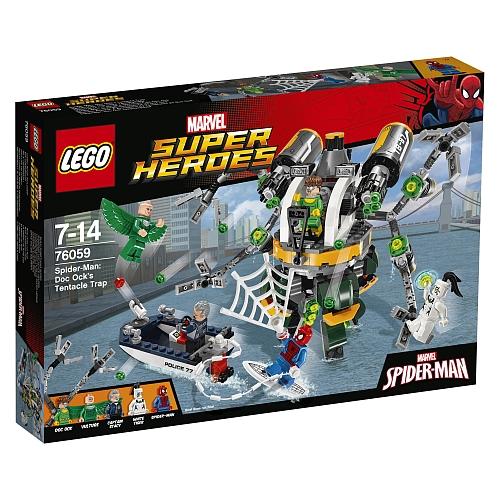 Lego super heroes - 76059 spider-man: doc ock's tentacle trap