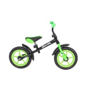 Yipeeh loopfiets - 12 inch - zwart/groen