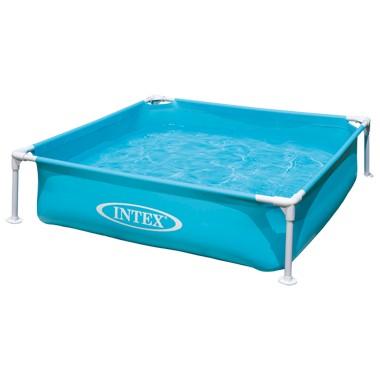 Intex Miniframe Pool Zwembad Blauw 122x122x30 cm